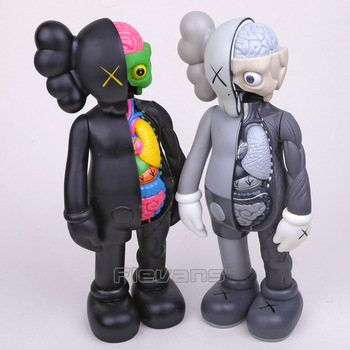 "OriginalFake Kaws Dissected Companion PVC Action Figure Koleksiyon Model Oyuncak 14 ""36 cm Kutulu"