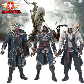 Orijinal Kutusu Assassins Creed 4 Black Flag Connor Heysem Kenway Edward Kenway 6 Inç PVC Action Figure Oyuncak Toplama odel
